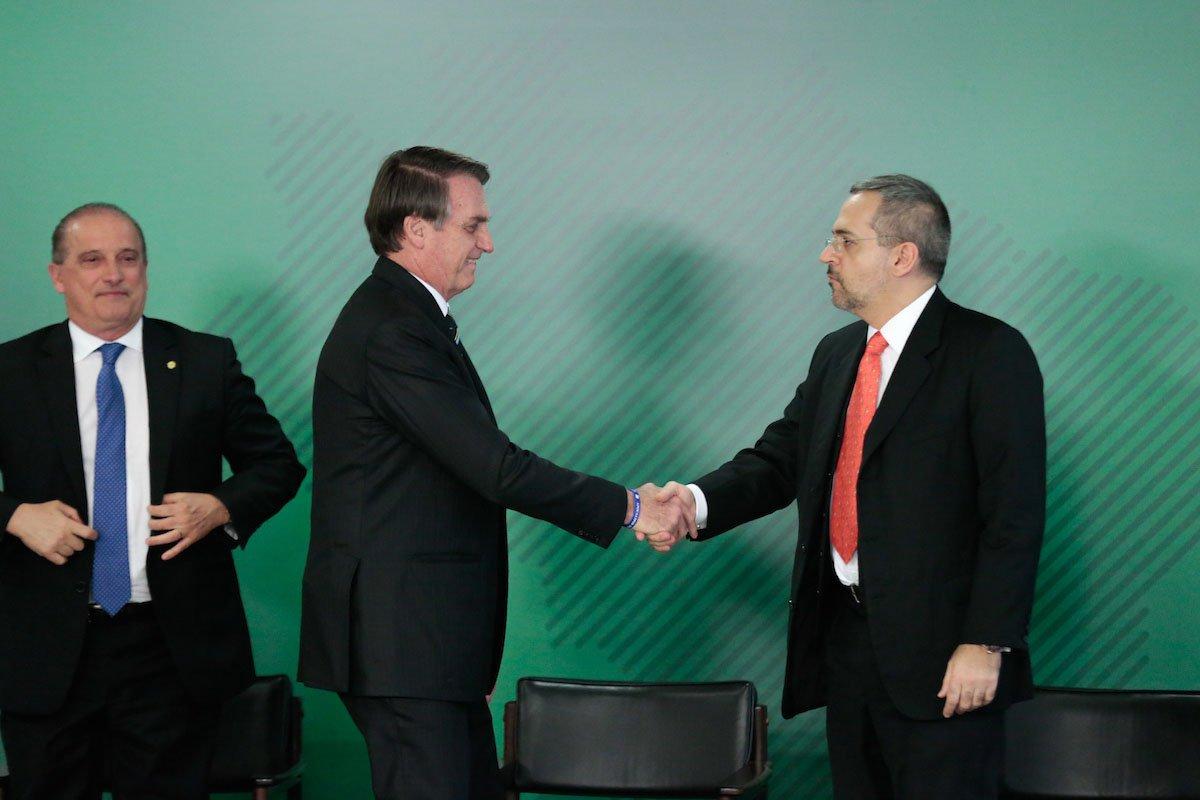 Cerimônia de Posse do Ministro de Estado da Educação, Abraham Bragança de Vasconcellos Weintraub e o presidente Bolsonaro