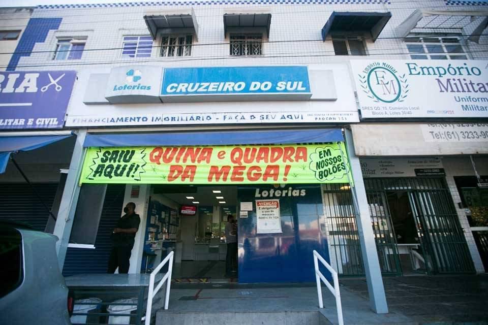 Lotérica no Cruzeiro onde saiu premio da Mega-Sena