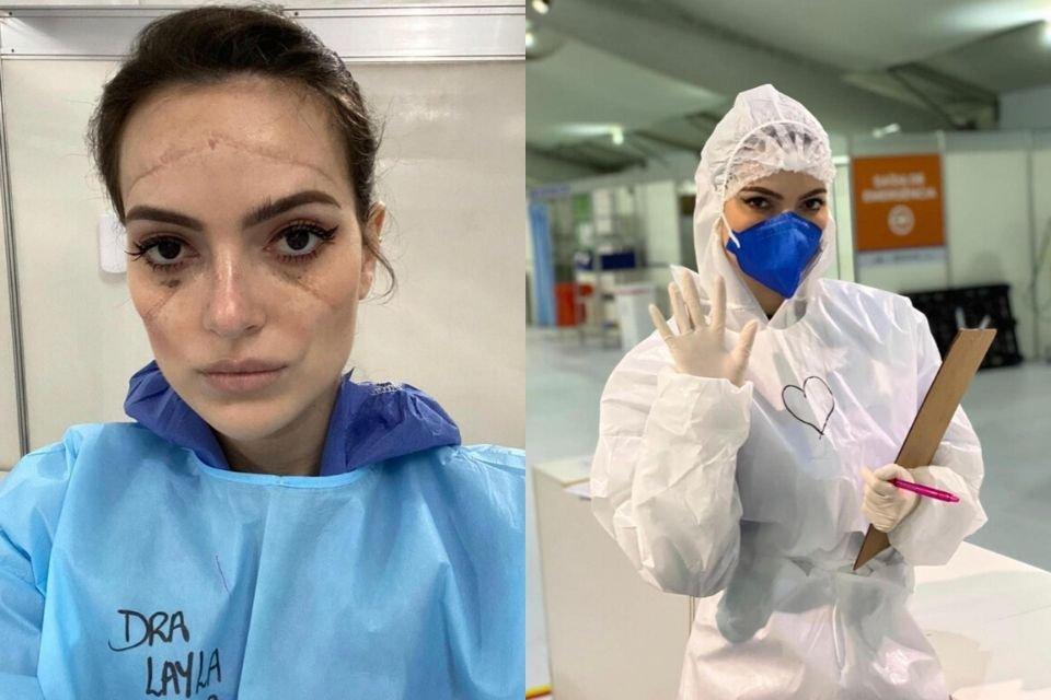 médica em hospital de campanha