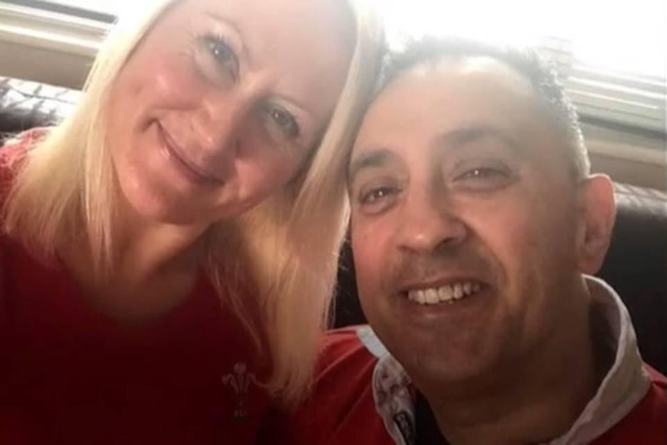 Sue Martin e Mal, que se recuperou do novo coronavírus