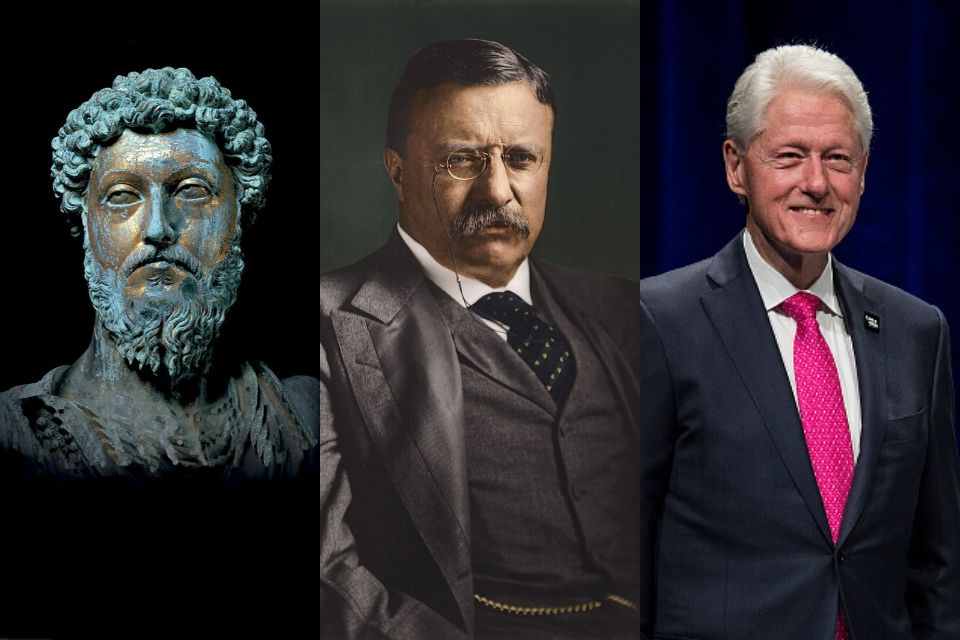 Marco Aurélio, Theodore Roosevelt e Bill Clinton