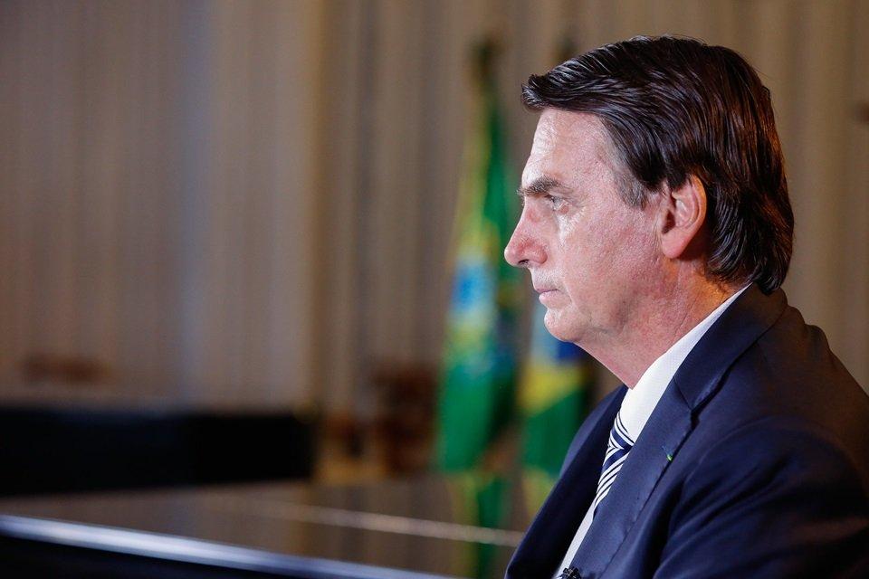 Jair Bolsonaro de perfil