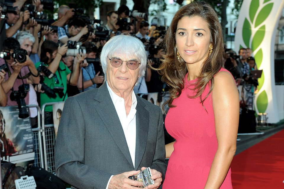 Bernie Ecclestone e Fabiana Flosi