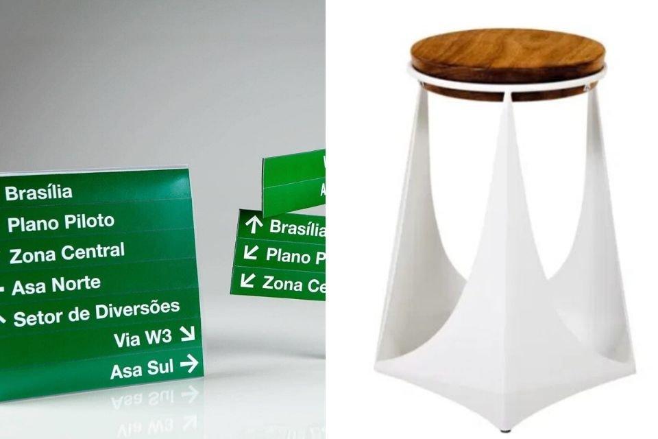 Móveis e objetos de décor inspirados em Brasília
