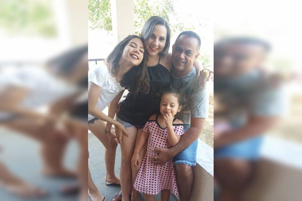 Hiran Rodrigues e família