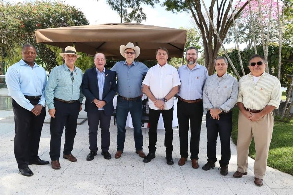 Bolsonaro, ministros e o embaixador dos EUA, Todd Chapman