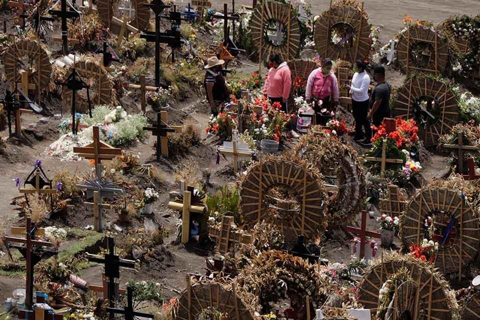 cemitério no México durante a pandemia provocada pelo novo coronavírus