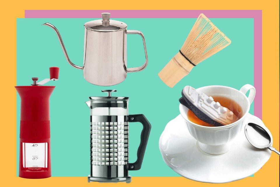 Utensílios para cafés e chás, capa Vitrine M