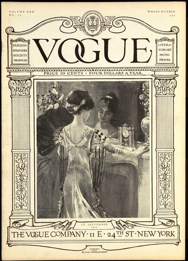 Capa da Vogue de 1907