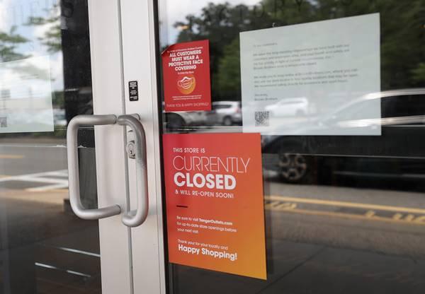 loja fechada da Brooks Brothers