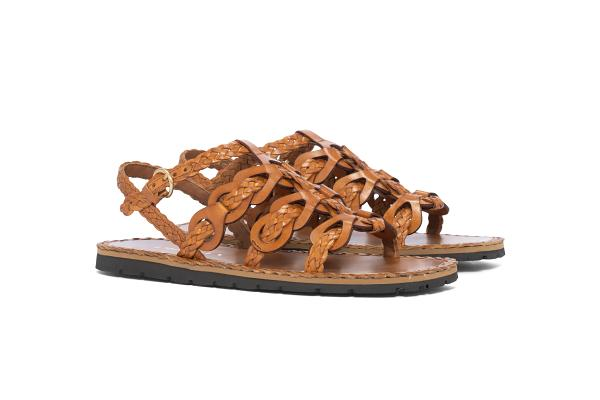 Sandália de couro Prada
