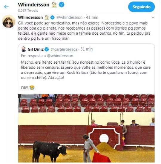Whindersson briga com Gil Giniz