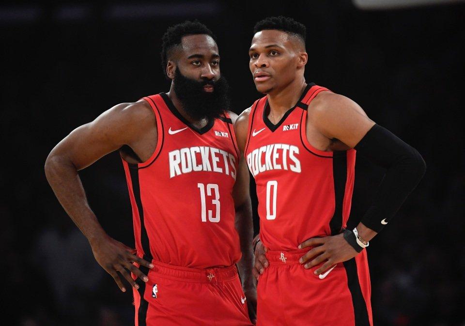 Houston Rockets James Harden Russell Westbrook