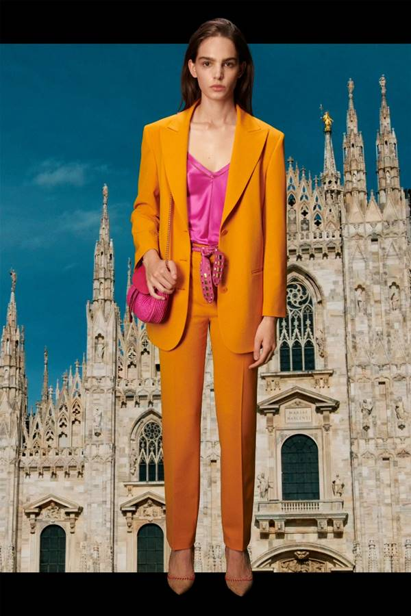 Look de Resort 2021 da Alberta Ferretti