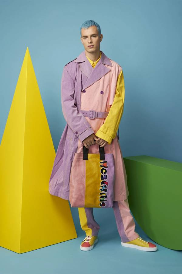 Look masculino de Resort 2021 da Moschino