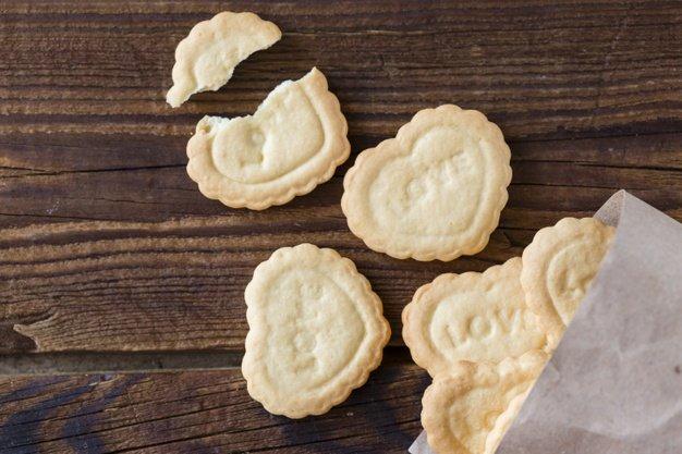 Biscoito em formato de coração