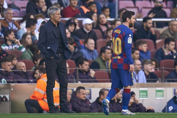 Setién e Messi no Barcelona