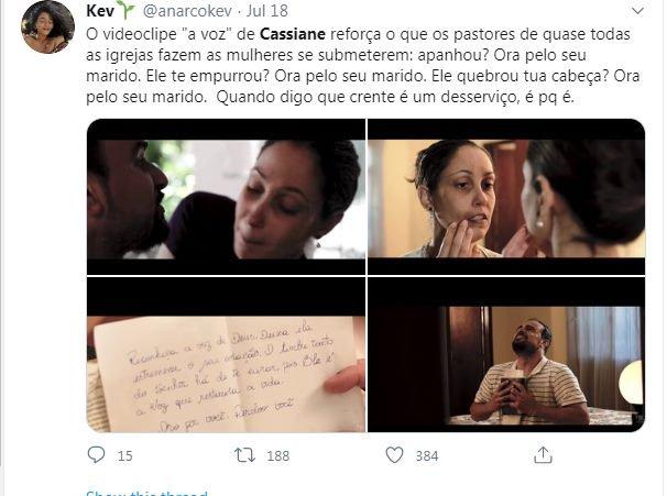 Clipe de Cassiane aborda violência doméstica