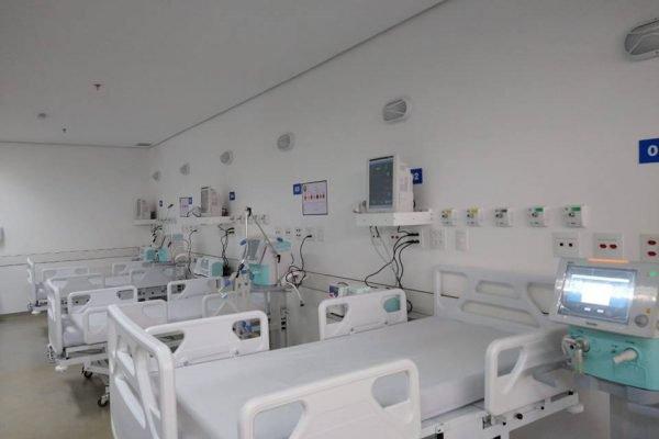 Leitos do Hospital de Campanha da PMDF para Covid-19