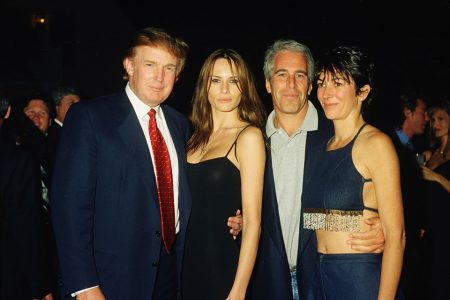 Donald Trump, Melania Trump, Jeffrey Epstein e Ghislaine Maxwell