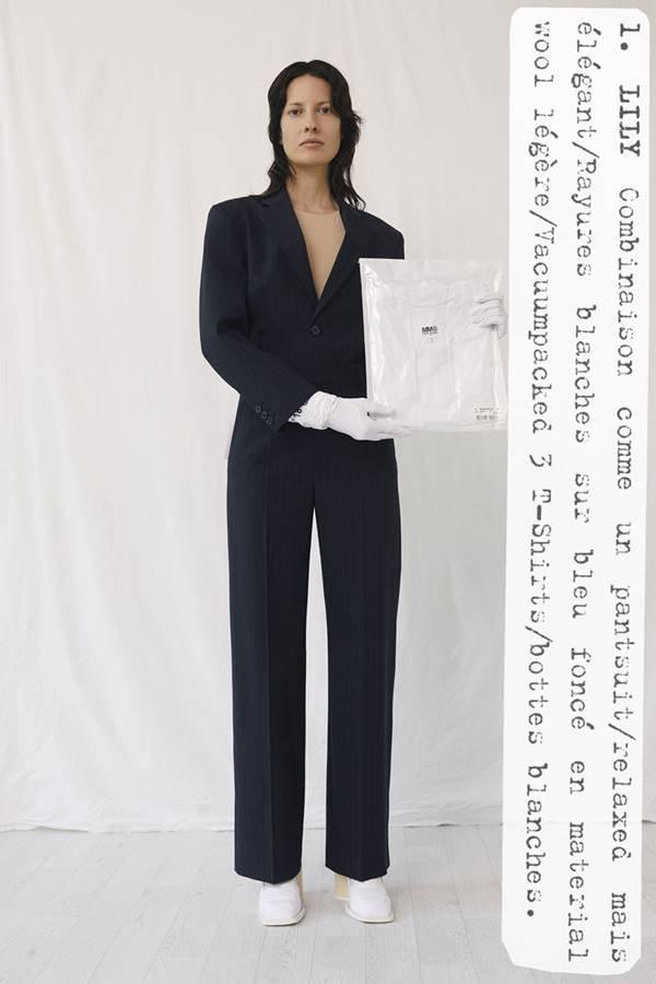 Modelo em campanha de resort 2021 da MM6 Maison Margiela