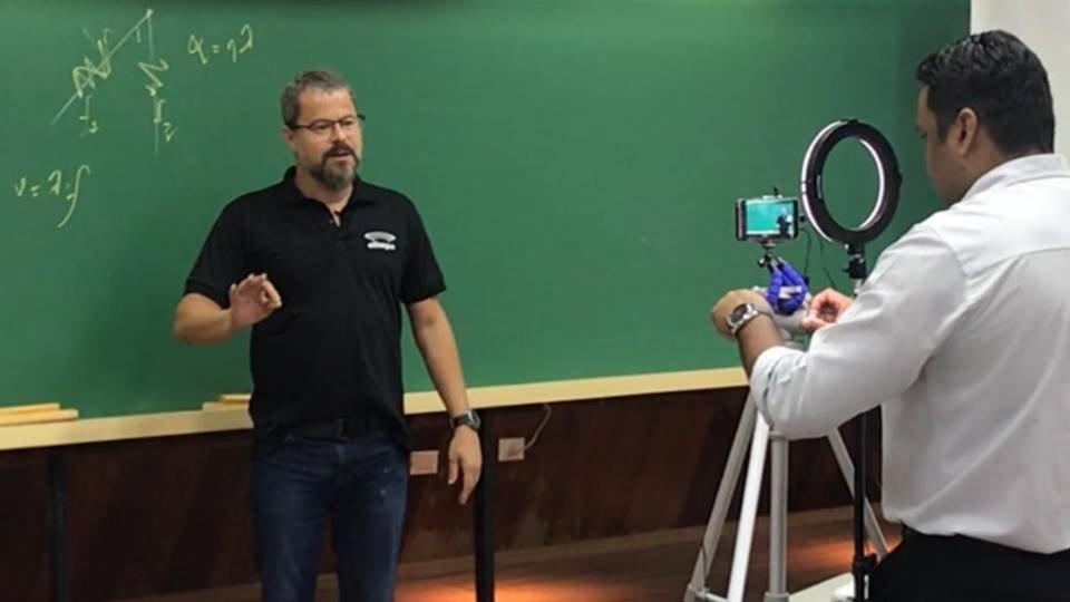 Gravação de aula on-line Olimpo