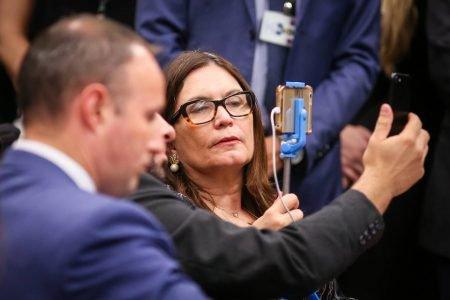 Bia Kicis no plenário da Câmara