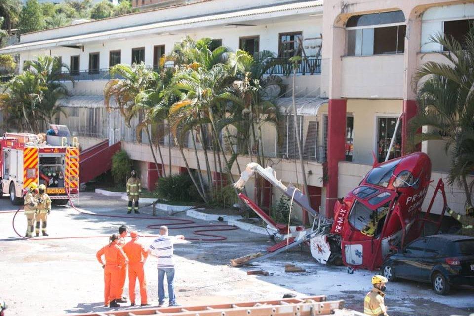 Helicóptero dos Bombeiros cai no DF