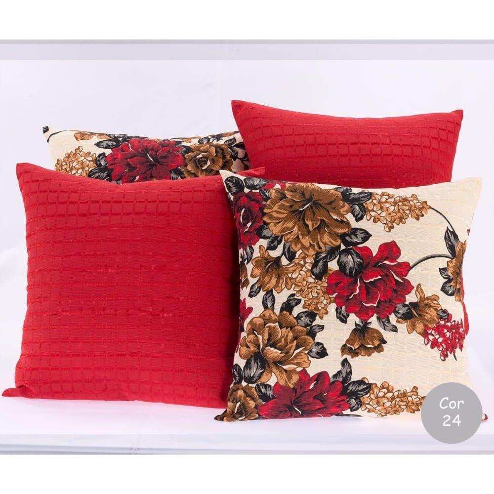 Almofadas para decoração sala e sofa 4 unidades