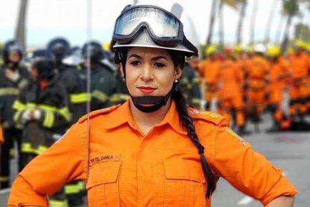 Camila Paiva, tenente coronel dos Bombeiros, idealizadora do movimento Somos Todas Marias