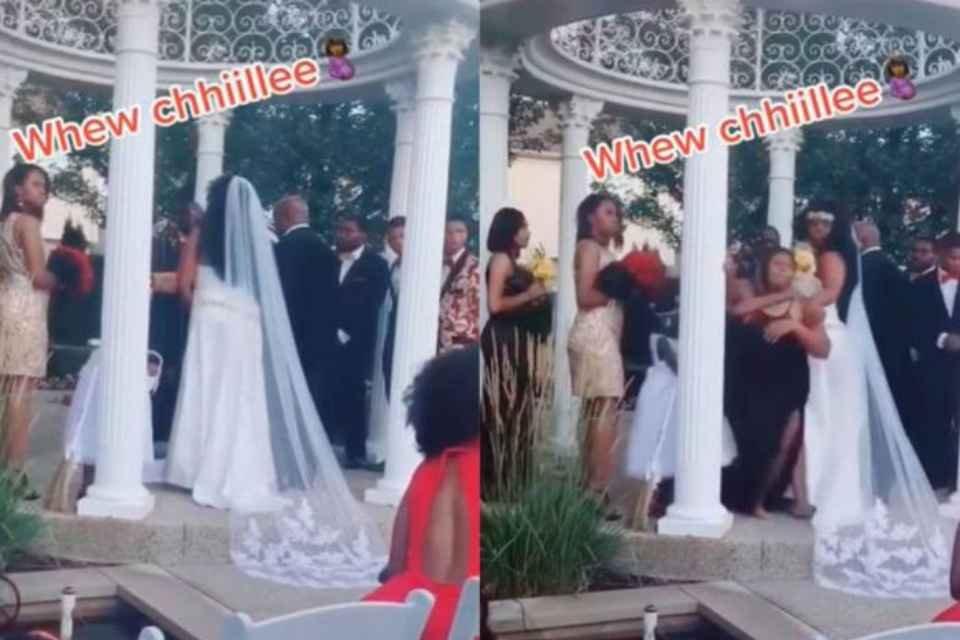 Mulher invade casamento e diz estar grávida de noivo