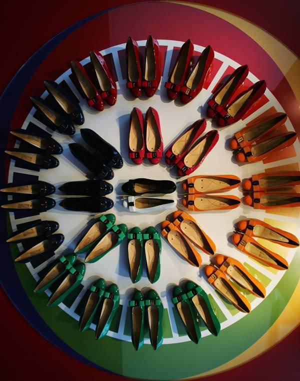 Sapatos em círculo