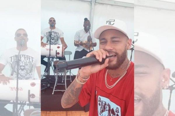 Neymar cantando