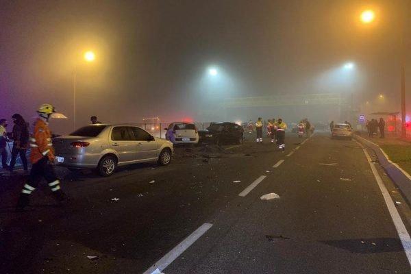 Tragédia na BR-277 envolveu 22 veículos, segundo a Polícia Rodoviária Federal