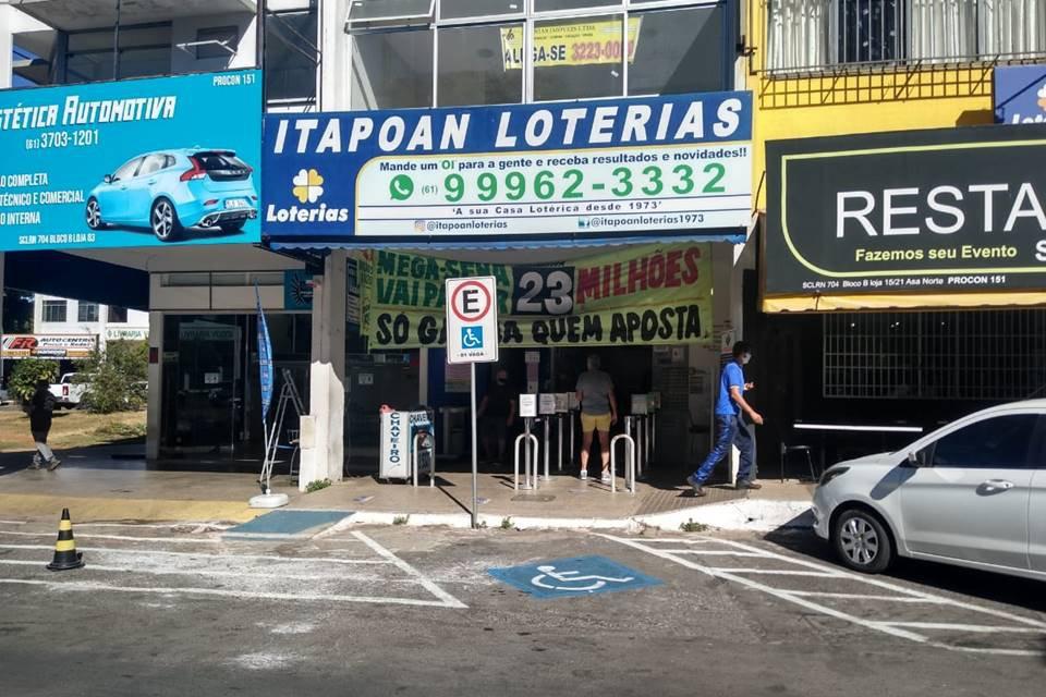 Itapoan, lotérica na Asa Norte onde foi feita aposta vencedora da Mega-Sena
