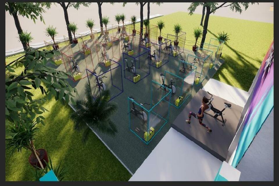 Novo normal: academia da Asa Sul inova com aulas de spinning ao ar livre – Metrópoles
