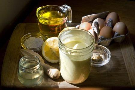 Ingredientes para maionese