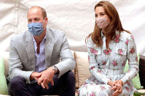 Príncipe William e kate Middleton de máscara facial