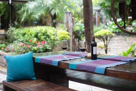 quintal taças de vinho