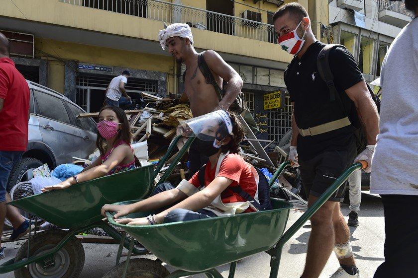 Crianças explosão Beirute