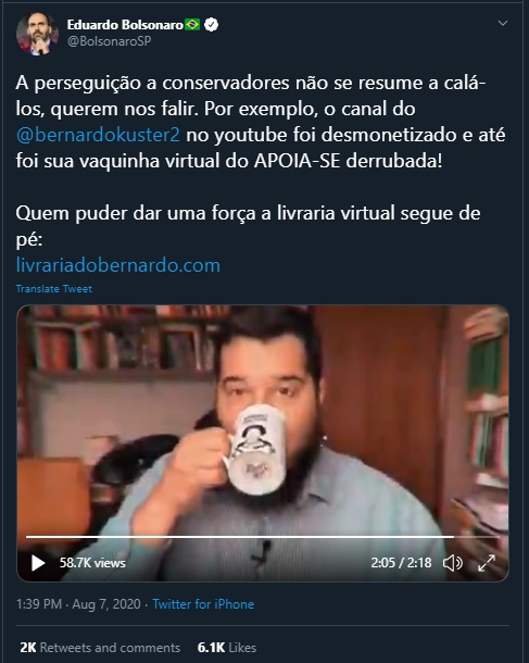 post eduardo bolsonaro