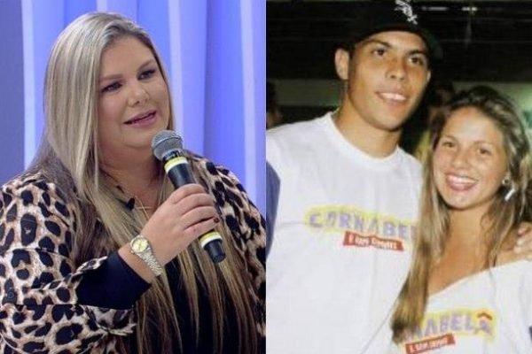 Vivi Brunieri, ex-Ronaldinha, com Ronaldo Fenômeno