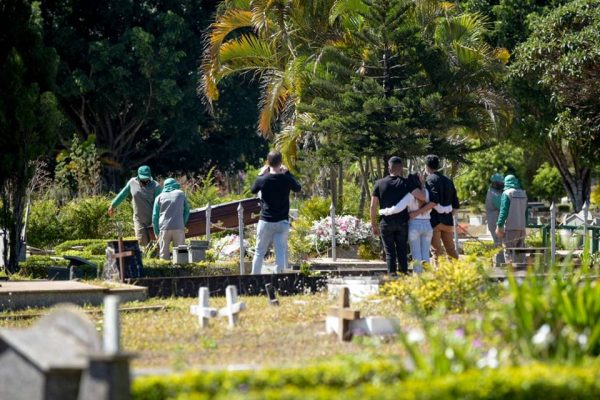 Enterro de vítima da Covid-19 no DF