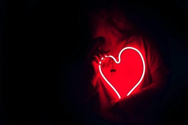 coração em neon