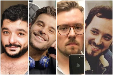 Humoristas da internet: Rodolpho Rodrigo, Guilherme Sousa, Thiago Tonkiel e André Brandt