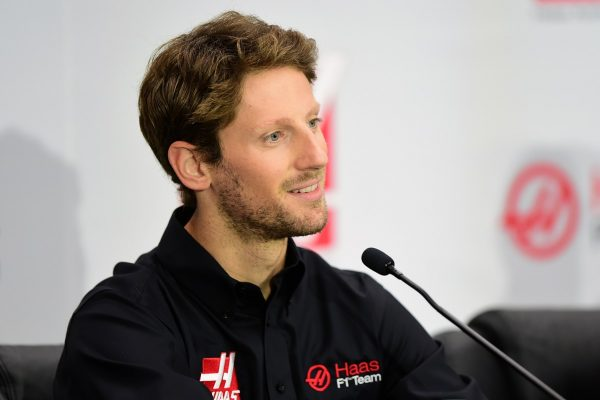Romain Grosjean em coletiva