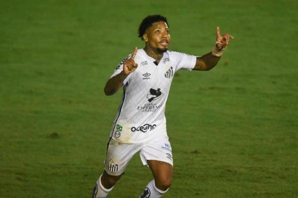 Marinho comemora gol no Santos