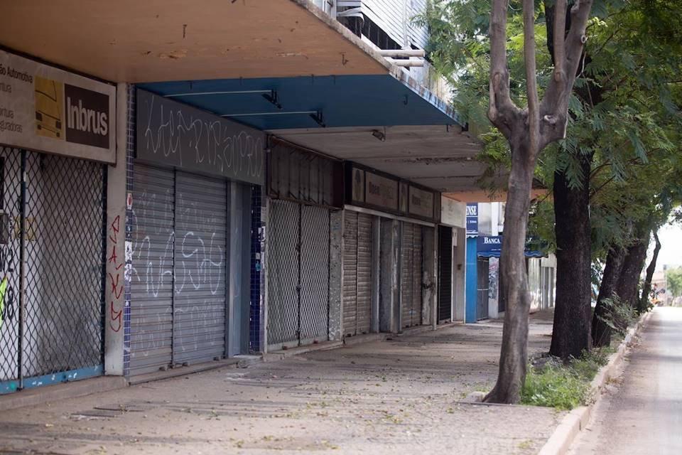 Asa Sul tem 540 lojas fechadas. Na W3 Sul, 175 empresas foram desativadas