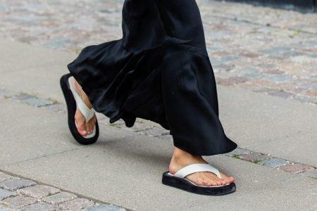 Chinelo Liv no street style da Semana de Moda de Copenhague