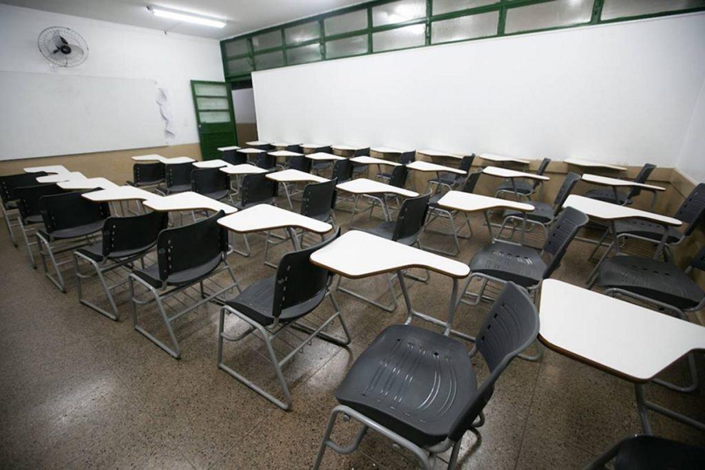 Sala de aula no DF